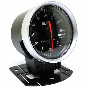 Blitz Racing Meter Sd Tachometer Gauge Black 60mm 2 375 Diameter 19566