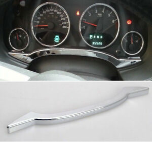 Chrome Inner Instrument Panel Dashboard Decor Fits 2011 16 Jeep Compass Patriot