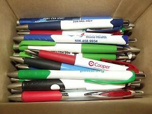 Lot 300 Misprint Ball Point Plastic Retractable Pens Soft Grip