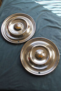 1950 1951 1952 1953 Oldsmobile Olds 15 Hubcap Stainless Pair