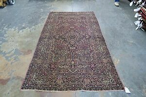 Antique Fine Lavar Kerman Persian Hand Knotted Wool Oriental Area Rug 4 2 X 7 6