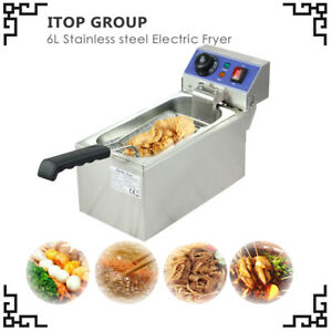 2kw Deep Fryer Electric Ce Commercial Tabletop Basket Scoop Unit Fried Chicken