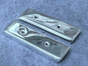 Mercedes 220s se 127 128 Chrome Cover Plates L r at Ends Of Dash Wood Nice