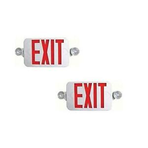 Ciata Lighting Exemrd r led Red Exit Sign Led Emergency Light Combo 2 Pack