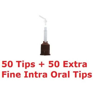 T style Core Material Mixing Tip 50 Brown W 50 Regular Intra Oral Tips