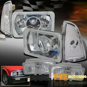 1995 1997 Chevy S10 Blazer Projector Chrome Headlights Corner Signal Lights