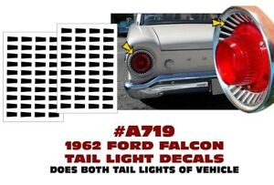 A719 1962 Ford Falcon Tail Light Decal Sticker Kit