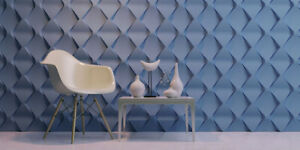 pyramid 3d Decorative Wall Panels 1 Pcs Abs Plastic Mold For Plaster