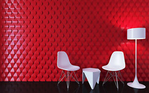 illusion 3d Decorative Wall Panels 1 Pcs Abs Plastic Mold For Plaster