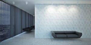 square 3d Decorative Wall Panels 1 Pcs Abs Plastic Mold For Plaster