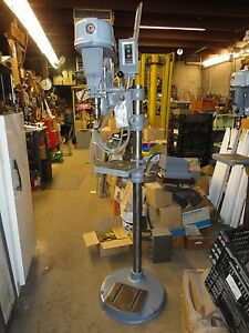 Rockwell Offset Drill Press Floor Stand Adjustable Speed Work Deck