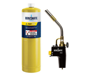 Bernzomatic Ts8000kc Premium Torch Kit Start stop Ignition Run Lock Button Auto