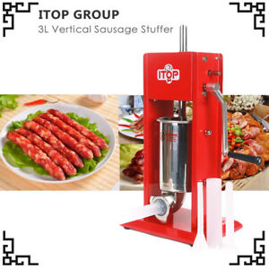 Vertical Sausage Stuffer Stainless Steel 3l 6 6lb Pound Meat Filler Us In Stock