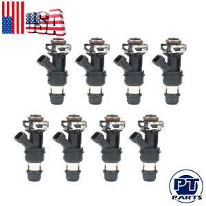 8 60lb 630cc Fuel Injectors For Gmc Cadillac Chevrolet 4 8l 5 3l 6 0l 01 07