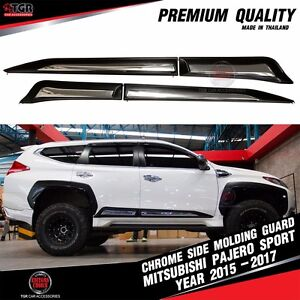 Chrome Side Molding Guard Cover Trim Mitsubishi Montero Pajero Sport 2015 2017