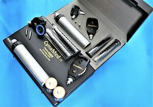 New Professional Prophysician Ophthalmoscope Otoscope Diagnostic Set W Hard Case