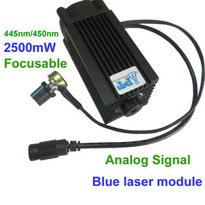 450nm 2500mw Analog Signal Blue Laser Head Module Marking Wood Cutting Engraver