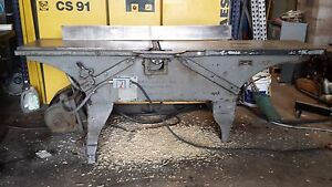 F h Clement American 16 Jointer 3 Toed 3hp 3 Phase Will Palletize And Ship