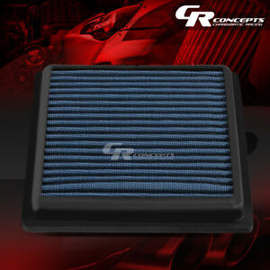 Blue Washable Flow Air Filter For 07 17 Nissan 350 370z 04 13 Infiniti G25 G37