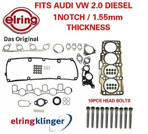 Oe Cylinder Head Gasket Set With Bolts Vw Diesel 2 0 1 Notch