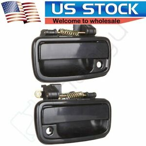 Outside Exterior Door Handle Black Pair Left Right For 1995 2004 Tacoma Toyota