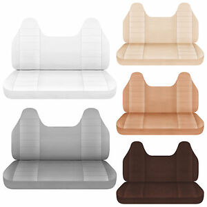 96 07 Ford F 150 250 350 Cotton Bench Seat Cover Molded Headrest 23 Colors