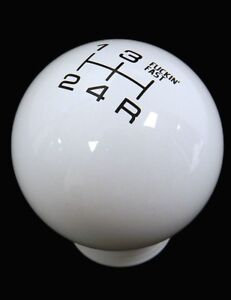 Vms White Black Fing Fast Shift Knob 5 Speed Short Throw Shifter Lever M10x1 5