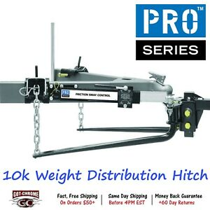 49904 Pro Series Weight Distribution Hitch With 10000lbs Gross Trailer Weight