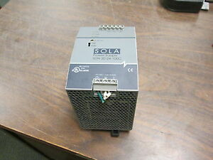 Sola Power Supply Sdn 20 24 100c Input 100 240v 5 6a 50 60hz Used