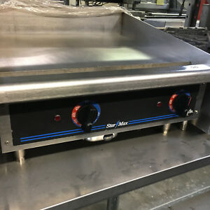 24 Star Max Thermostatic Electric Griddle 524tgd Flat Grill