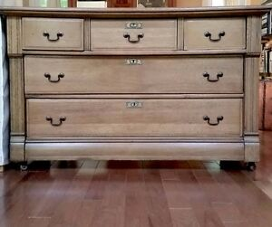 Antique Eastlake Style White Oak Dresser Chest