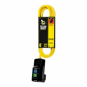 Coleman Cable 2879 Yellow Jacket Gfci Extension Cords Outdoor 3 Conductor 6 F