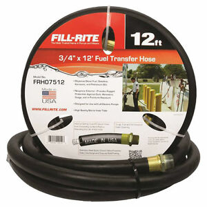 Fill rite Frh07512 Fuel Transfer Hose With Static Wire Spring Guards 3 4 In X