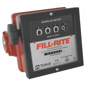 Fill rite 901 Mechanical Flow Meter 6 40 Gpm 50 Psi 4 Digit 1 In