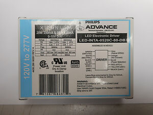 Dimmable Led Driver Philips Advance Ledinta 0520c 80 db 28 39 Watt 350 520 Ma