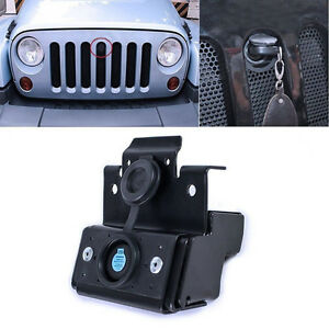 Hood Lock Kit Assembly Anti Theft For 2011 2018 Jeep Wrangler Jk Rubicon Sahara