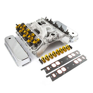 Chevy Bbc 454 Hyd Ft Cylinder Head Top End Engine Combo Kit Polished
