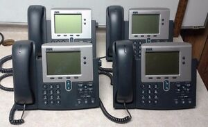 Lot Of 4 Cisco Cp 7940g 7940 Series Ip Phone 68 2564 03 C0 d0 Tested Free Ship