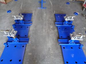 Auto Body Frame Machine Floor Under Body Tie Down System With 18 Floor Anchors