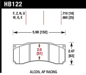 Hawk Performance Hb122z 710 Stable Friction Output Disc Brake Pads