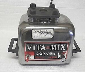 Vita Mix 3600 Plus Base Only Works Perfect Top Gear Looks Mint