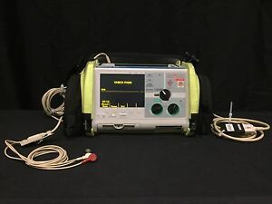 Zoll M Series Biphasic 200 Joules Max Ecg Monitor W Cable Leads Printer Case
