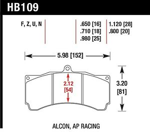 Hawk Performance Hb109z 710 Stable Friction Output Disc Brake Pads