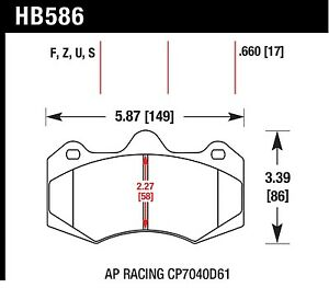 Hawk Performance Hb586z 660 Stable Friction Output Disc Brake Pads