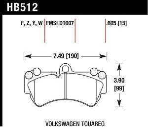 Hawk Performance Hb512z 605 Stable Friction Output Disc Brake Pads
