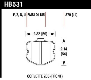 Hawk Performance Hb531z 570 Stable Friction Output Disc Brake Pads