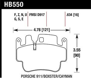 Hawk Performance Hb550z 634 Stable Friction Output Disc Brake Pads