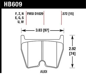 Hawk Performance Hb609z 572 Stable Friction Output Disc Brake Pads