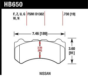 Hawk Performance Hb650z 730 Stable Friction Output Disc Brake Pads