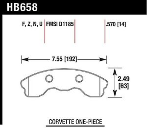 Hawk Performance Hb658z 570 Stable Friction Output Disc Brake Pads